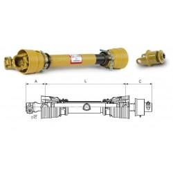 TRANSMISSION EUROCARDAN AX2 AVEC ROUE LIBRE RL1 1'3/8Z6 1600Nm