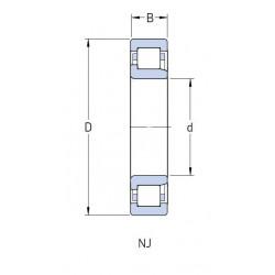 ROULEMENT A ROULEAUX CYLINDRIQUES Skf 60X130X31 ECM