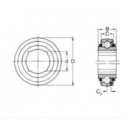 ROULEMENT DE PALIER Rhp ALESAGE CARRE 1'1/2 ( 39.12 )