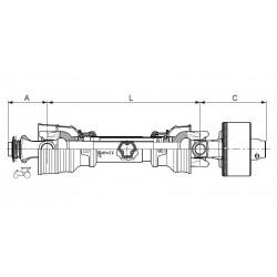TRANSM. Eurocardan HERSE ROTA. EA760 CT 1'3/8 CM LDR 1'3/4 Z20 3000Nm