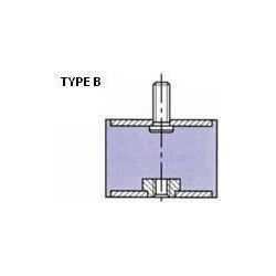 PLOT ANTI VIBRATOIRE ( SILENT BLOC ) TYPE B 50x45 M10