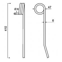 DENT ETRILLE TYPE HATZENBILCHER 6 mm / GRANGE & WALTER GW486